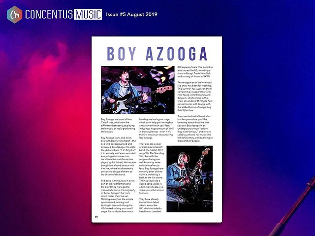 FEATURE OF THE DAY // P19  @boy_azooga and their debut album, written and recorded in its entirety by Davey Newington, followed by a tour with Neil Young! Magazine #5 avail now in Rough Trade or online 🔥  #boyazooga #festival #newmusic #bsthydepark