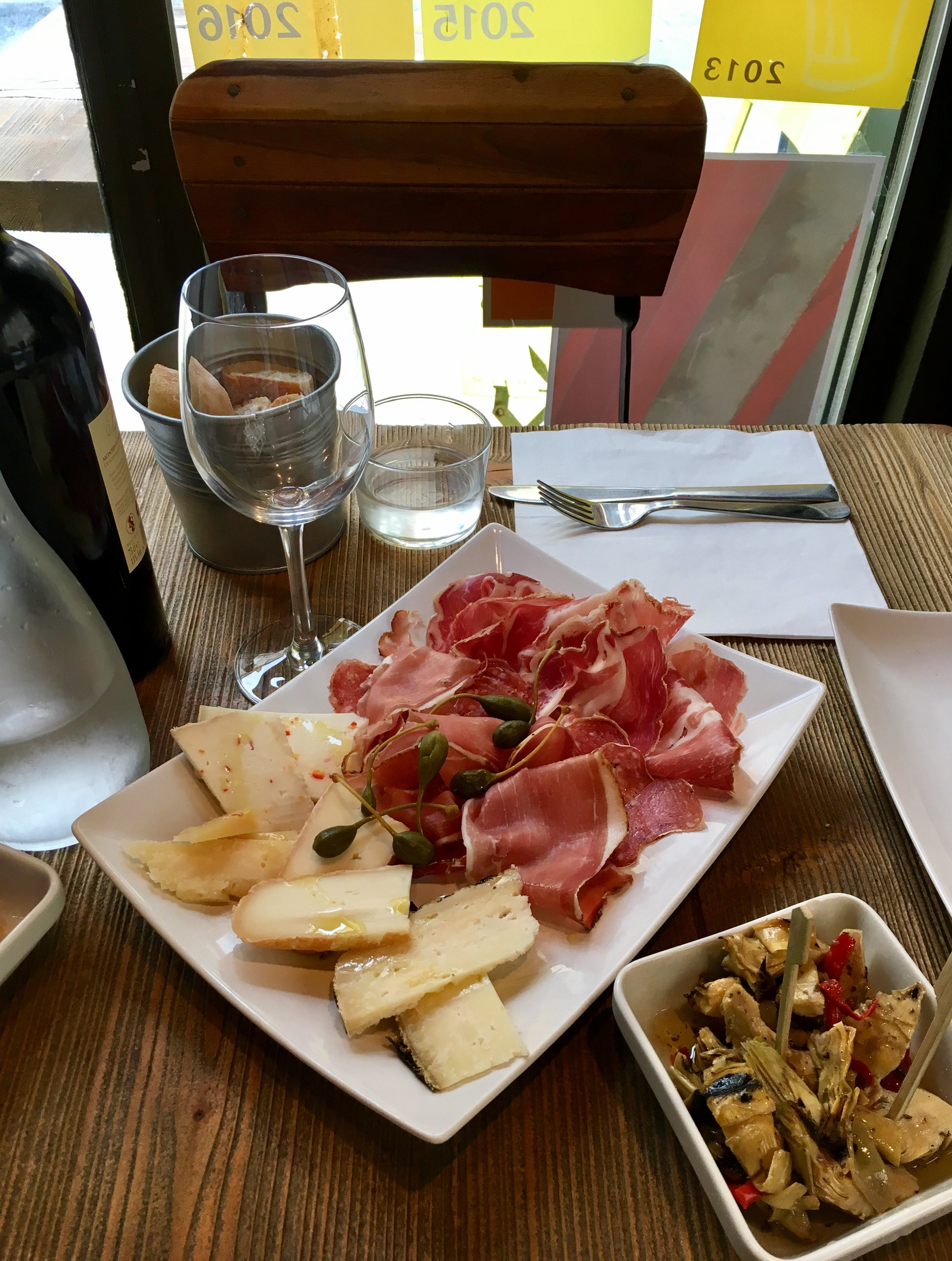 Cheese and meat at Bocca