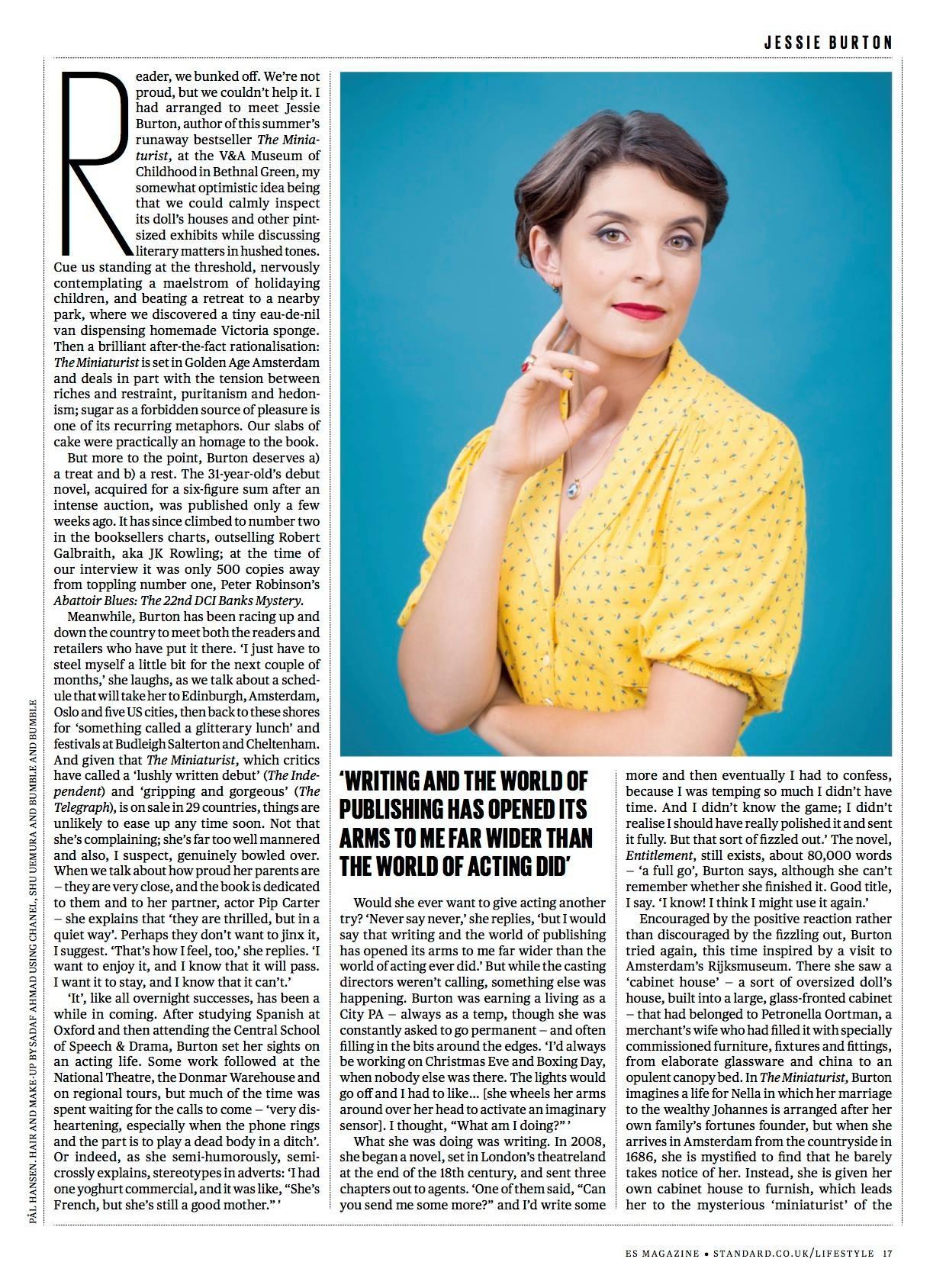 ES Mag - Jessie Burton single pg feature.JPG