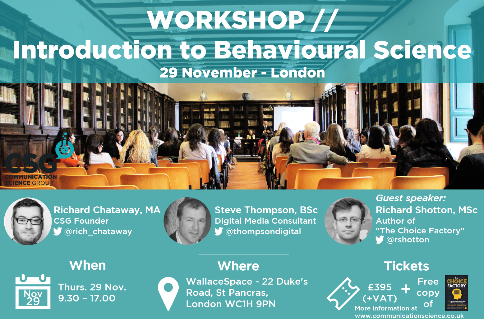 Join us in our upcoming Workshop -