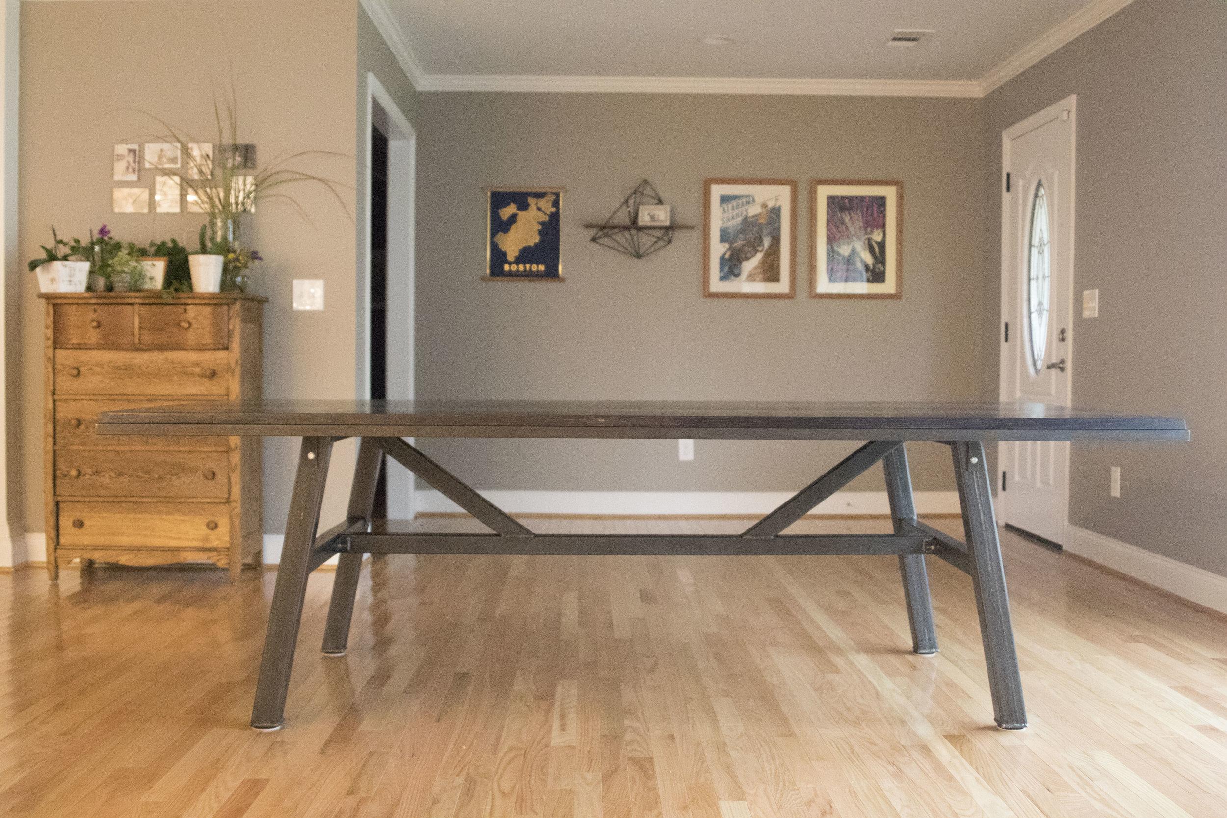 Ebonized Oak and Steel Modern Farm Table copy.jpg