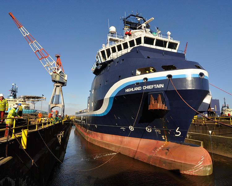 UK Docks Teesside Dry Dock