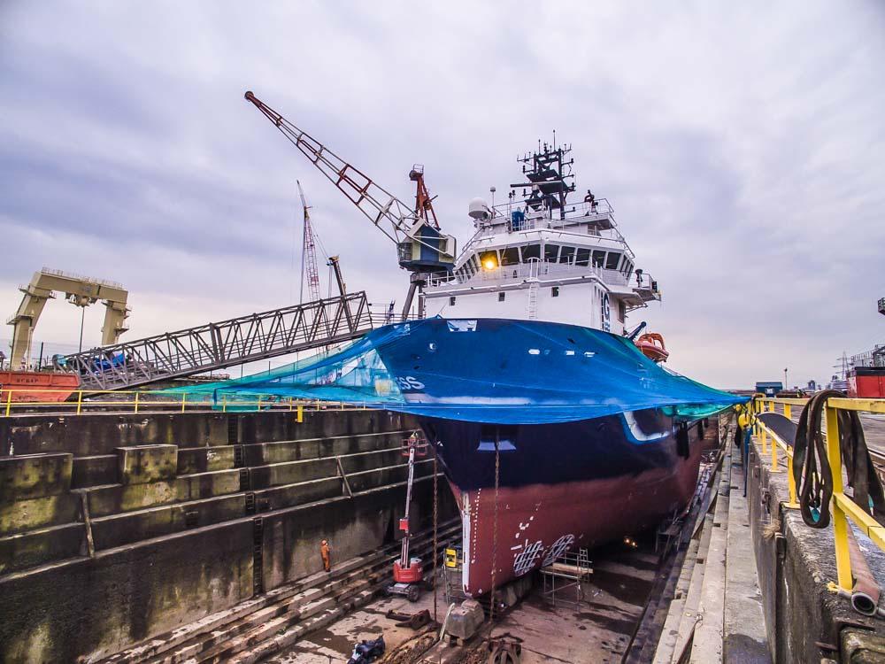 UK Docks Ship Repair Yard Teesside