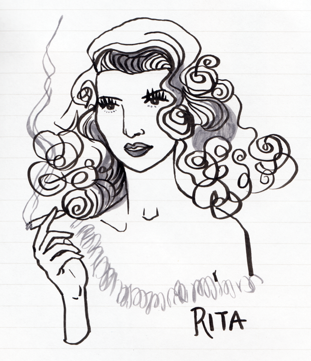 I always loved RIta Hayworth's look. I used to copy her movements secretly.