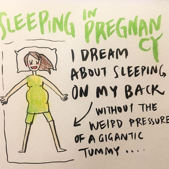 Sleeping during pregnancy 🛌 妊娠中の睡眠 😴  #pregnancydiary #illustratedpregnancy #melonchan #28weekspregnant #pregnancysleepproblems #妊娠日記 #妊婦日記 #妊娠イラスト #メロンちゃん #妊娠28週 #8ヶ月 #妊娠中睡眠