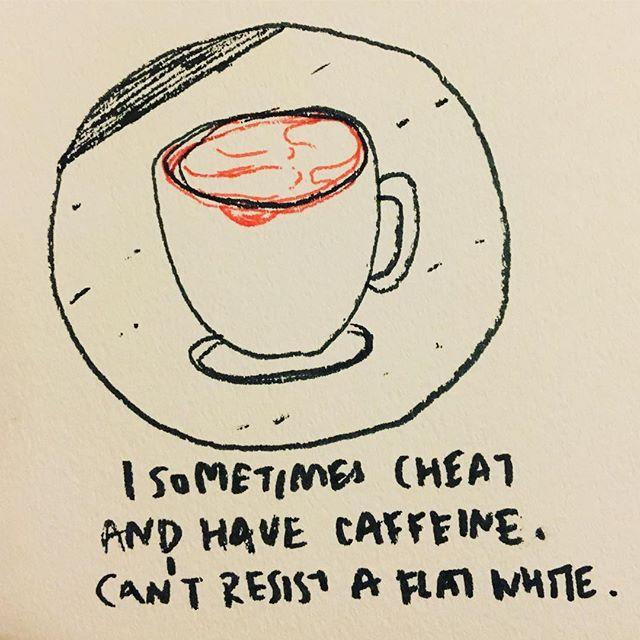 カフェイン我慢してても、フラットホワイトは我慢できない。