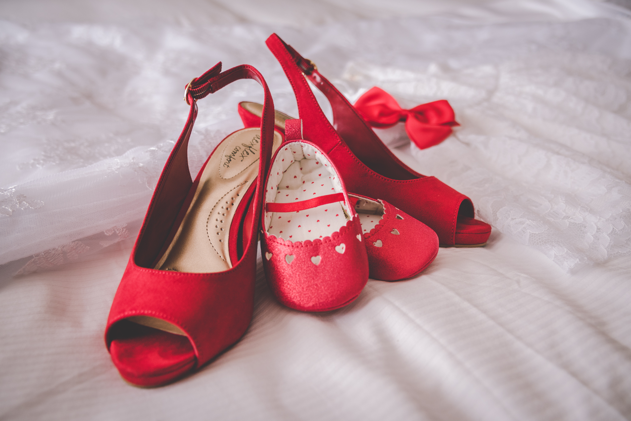 Raleigh Wedding, DoubleTree Hotel, Megan and Adam, red wedding shoes