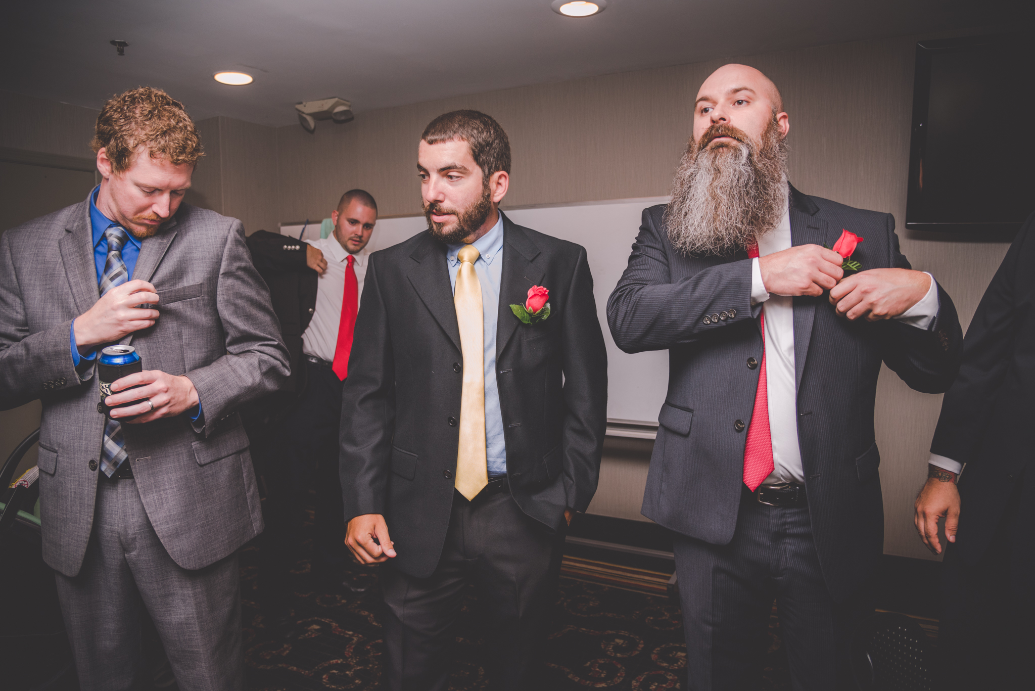 Raleigh Wedding, DoubleTree Hotel, Megan and Adam, groomsmen