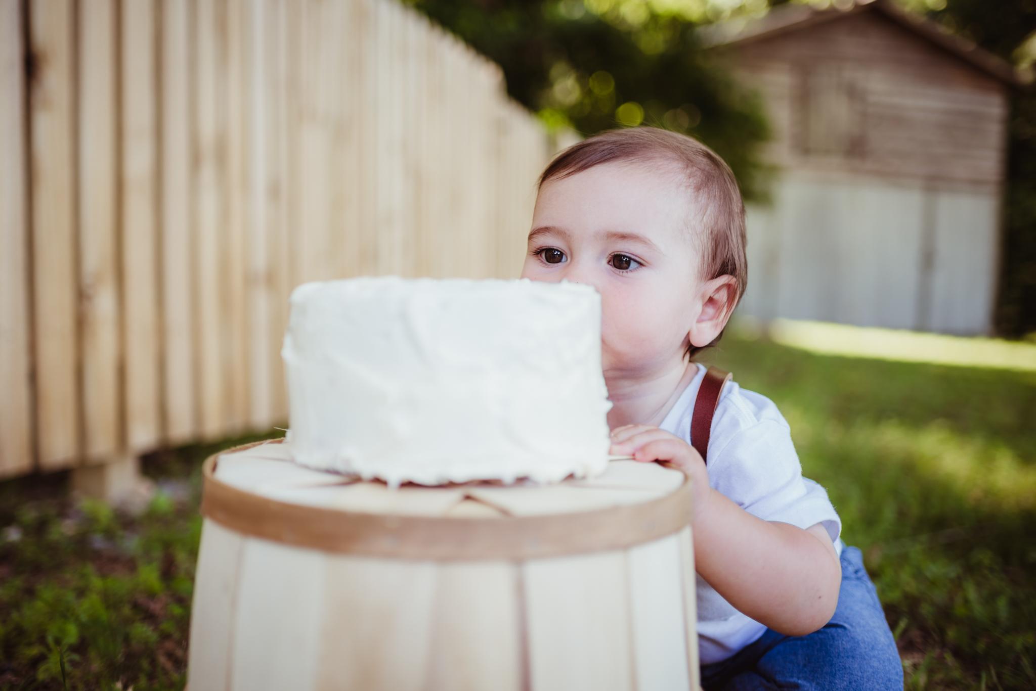 Wake Forest, HorseShoe Park, cake smash, Gavin
