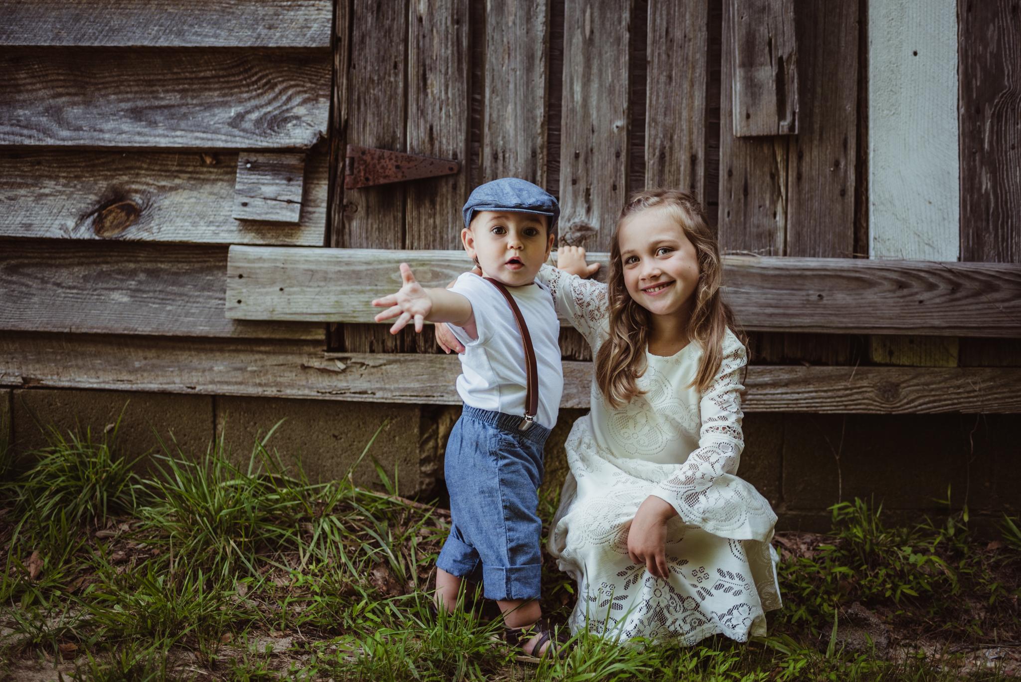 Wake Forest, HorseShoe Park, kid portraits