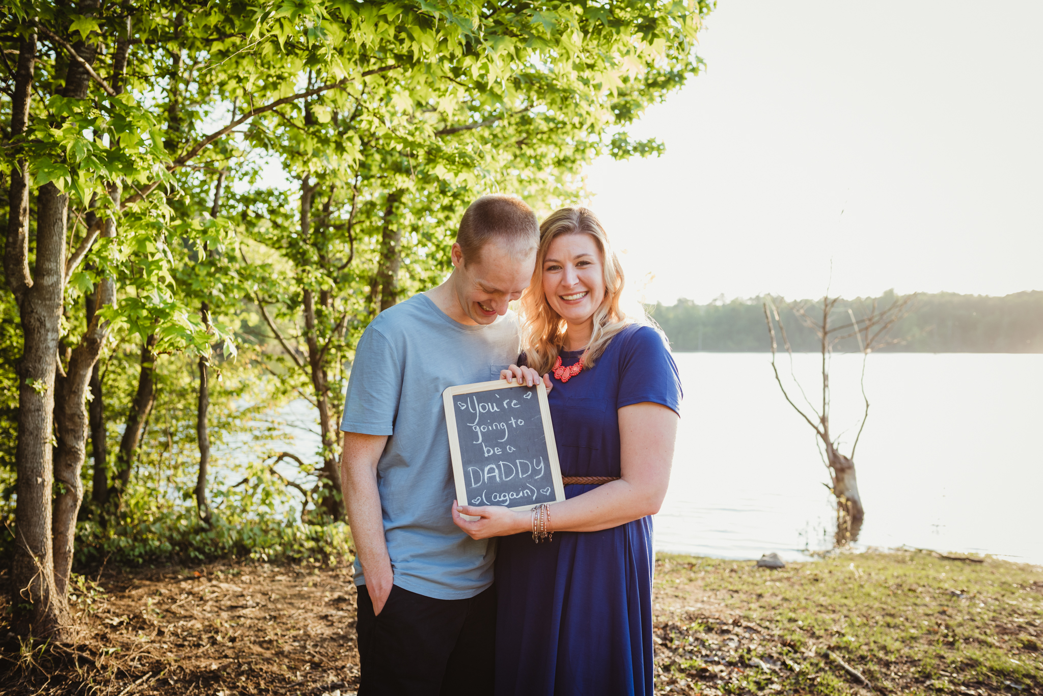 Raleigh family photography, Blue Jay Park, Manning family, pregnancy reveal
