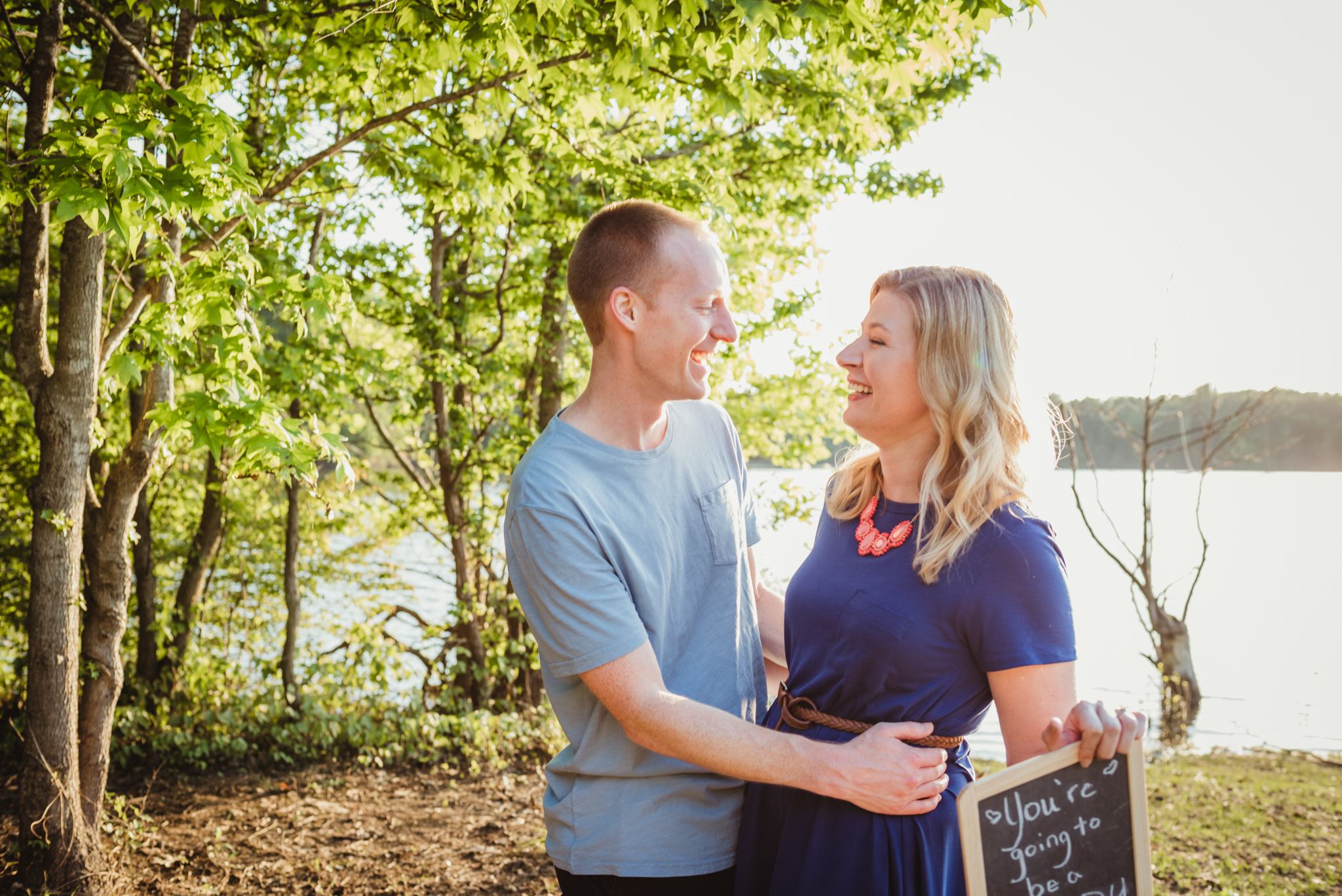Raleigh family photography, Blue Jay Park, pregnancy reveal, Manning family
