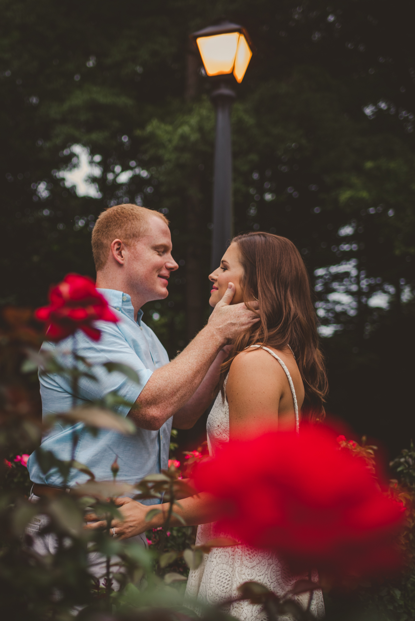 Raleigh Rose Garden, Raleigh engagement photographer, Sarah and Chad