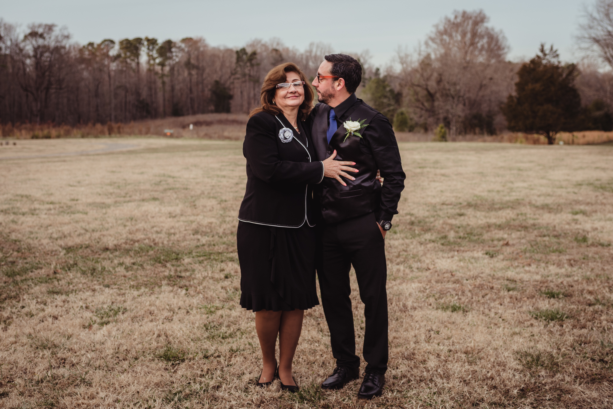 the-groom-and-his-mother-in-the-park-in-Raleigh.jpg