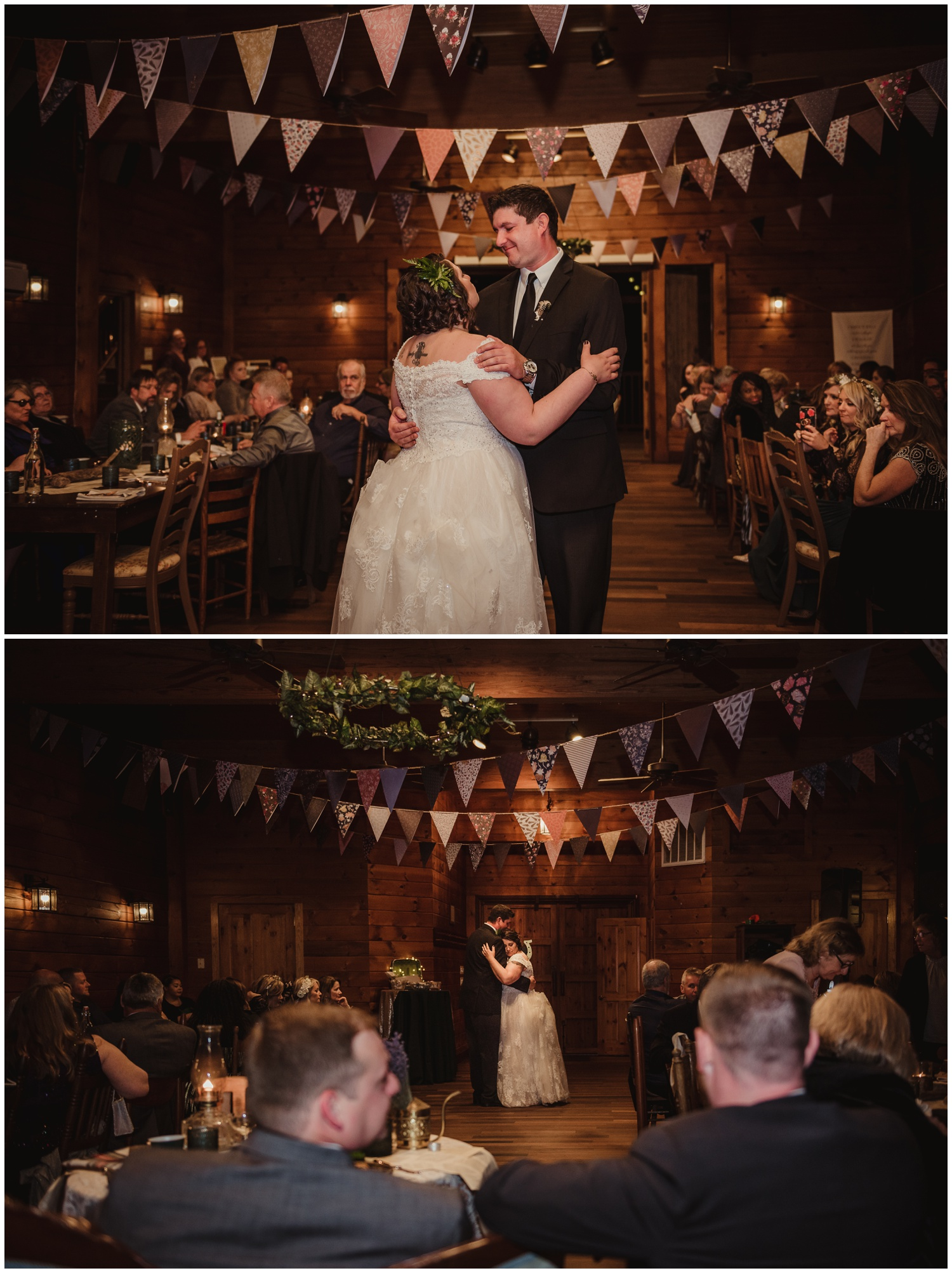 The bride dances with her older brother on her wedding day at the Barn at Valhalla in Chapel Hill, taken by Rose Trail Images.