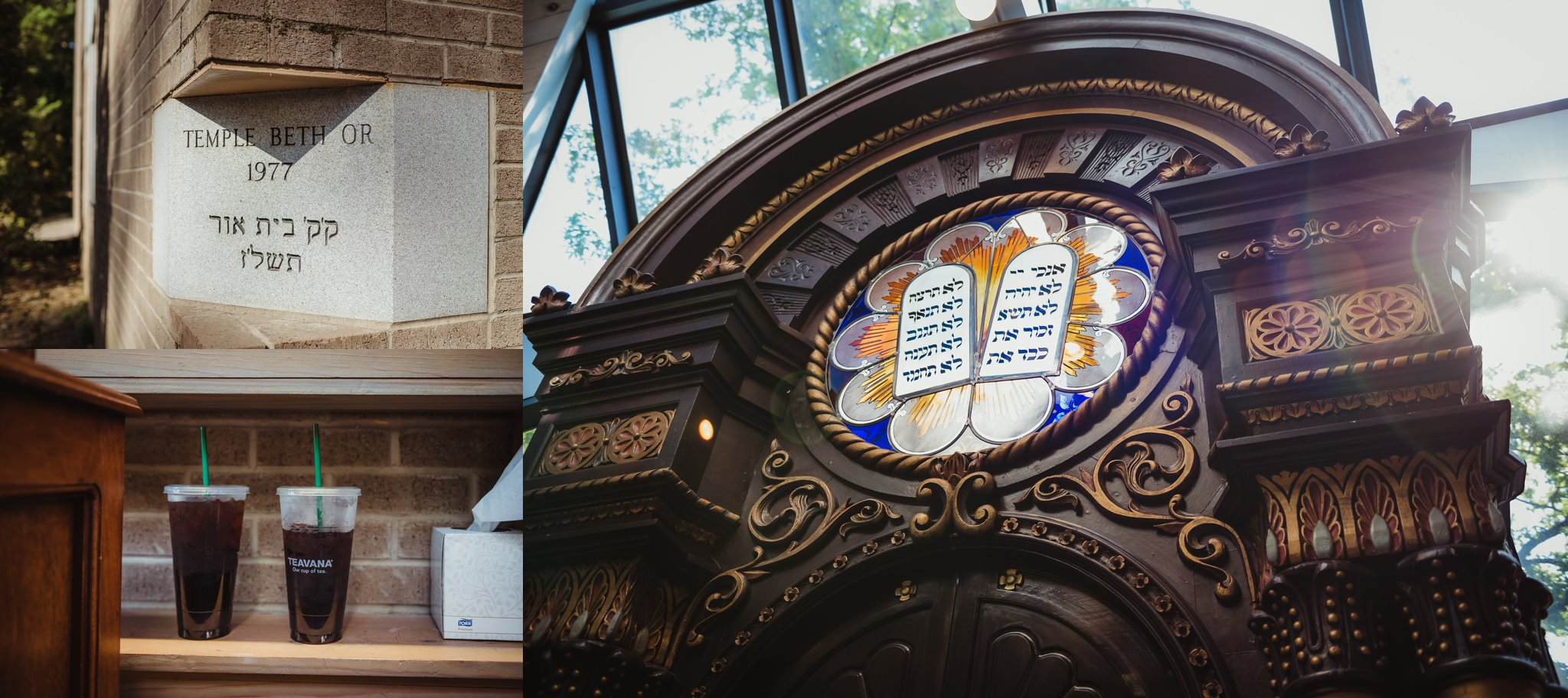 Images of Temple Beth Or in Raleigh, North Carolina taken by Rose Trail Images.