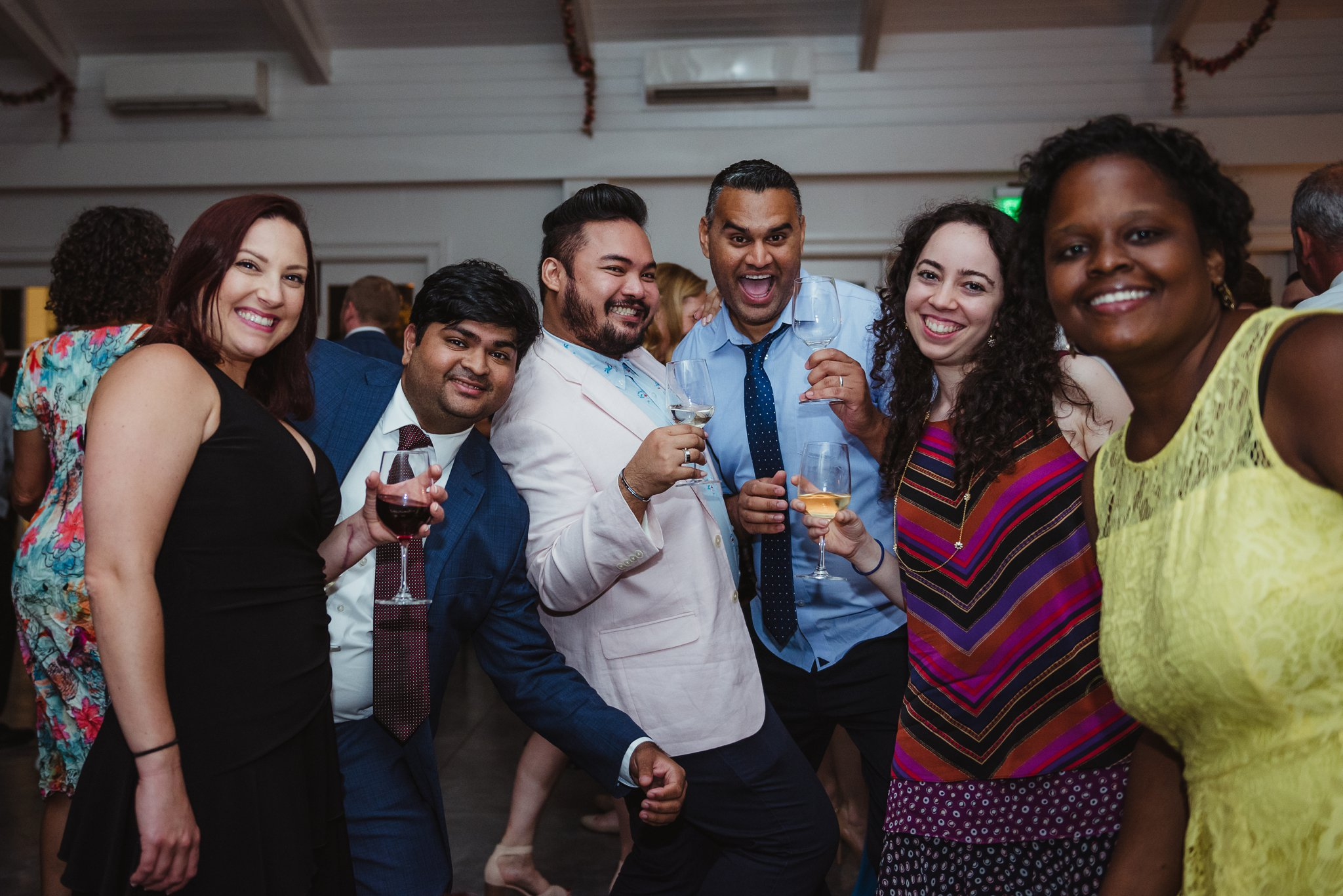 Guests enjoyed themselves during the wedding reception at the Merrimon Wynne in Raleigh, photos by Rose Trail Images.