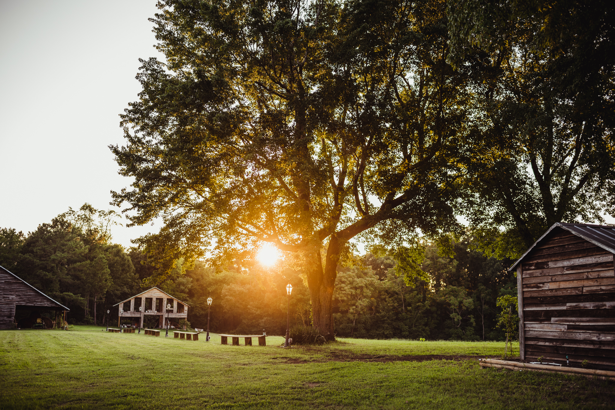 Sunset at the beautiful Warren Estate in Warrenton, North Carolina, picture by Rose Trail Images.