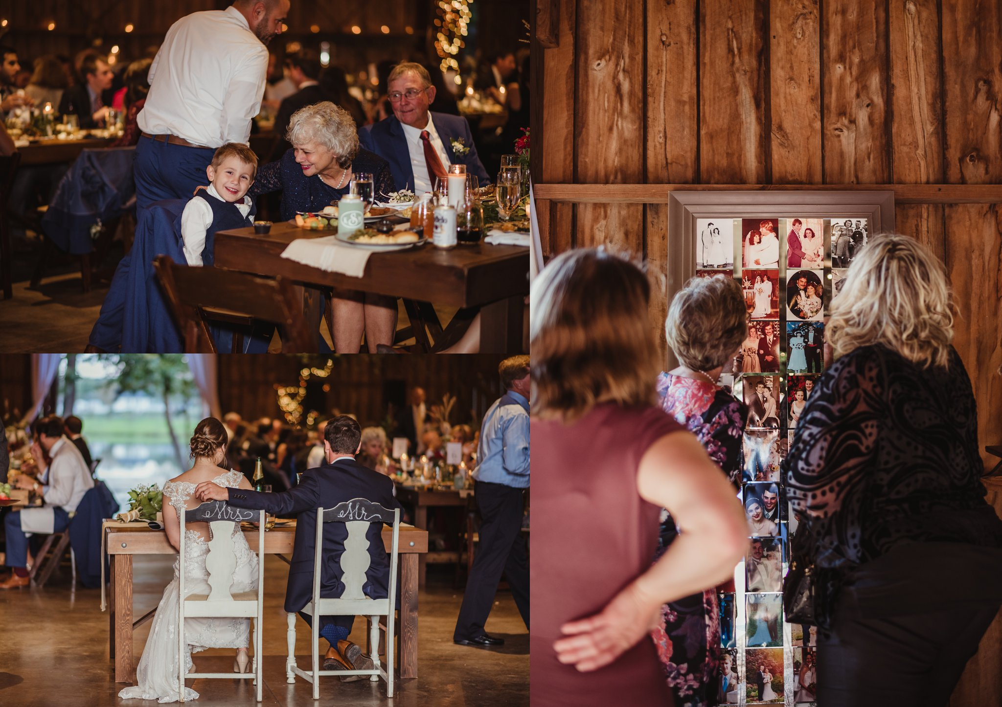The bride and groom and their guests enjoy each other during their wedding reception at the Little Herb House in Raleigh, North Carolina. Photos by Rose Trail Images.