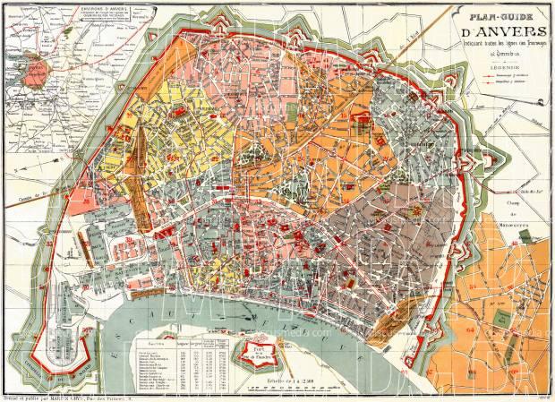 Map of Antwerp, 1898