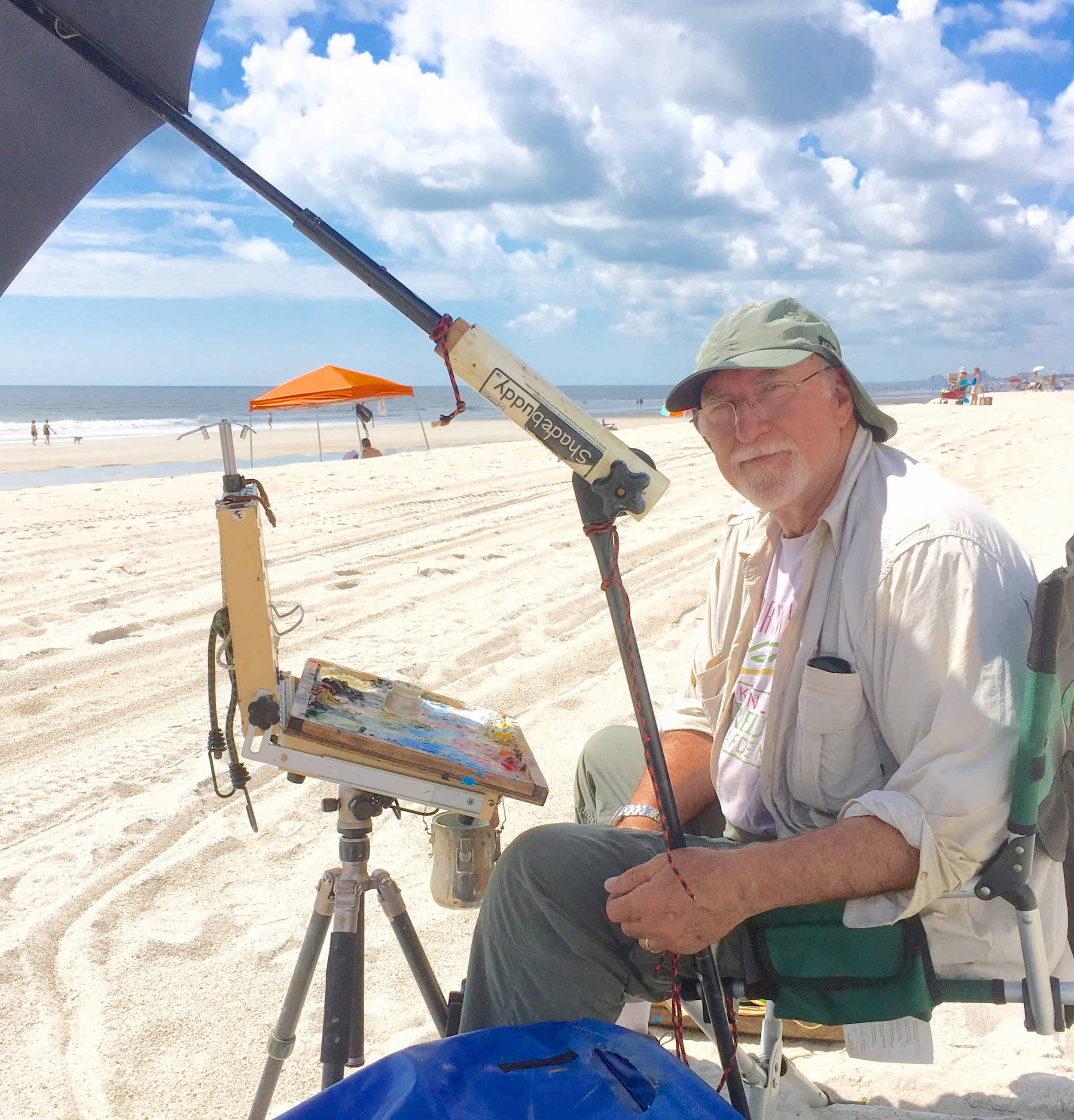 Paul Ladnier plein air painting at Hannah Park in Northeast Florida