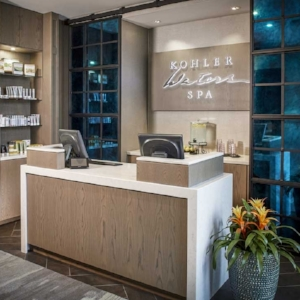 BOUTIQUE & GIFT CARDS     Continue your spa experience at home with hair and skincare items from the spa boutique. We offer a selection of spa and beauty products and gifts including our signature Hollyhock body products.