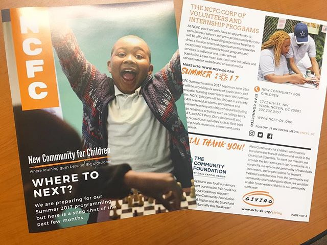 June Quarterly Newsletter is out! Checkout our website to download the electronic version or sign up to get on our mailing list to receive print copy! #ncfcscholars #nonprofitorganization #funandlearning #dc
