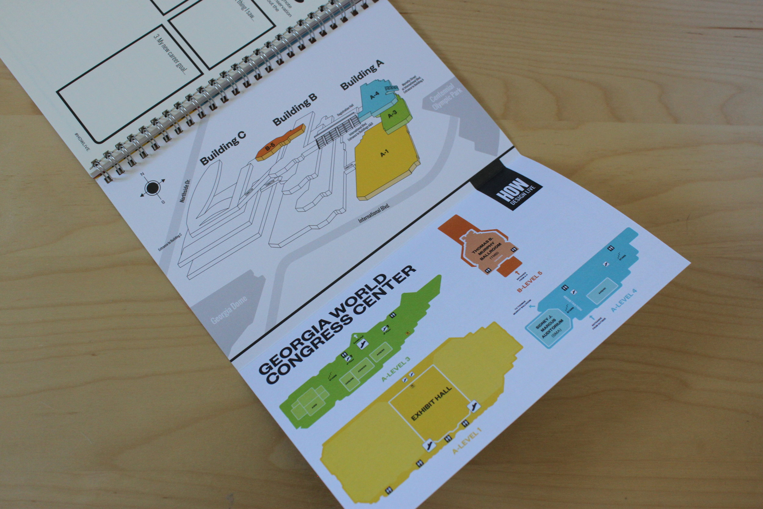The back flap provided a map of the conference centre.