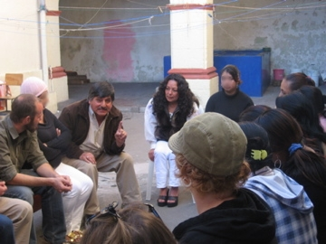 """In the prison, the director gives us the lowdown. From the schools website """"Our activities are designed for you to experience the culture, traditions, lifestyles, social problems, history, Mayan worldviews and life in the rural communities of Guatemala. Through visits to indigenous villages, churches, markets, cultural conferences, films and discussions, it is possible to gain a better idea of the political, social and economic situation of Guatemala"""" I did learn a shit ton while I was there."""