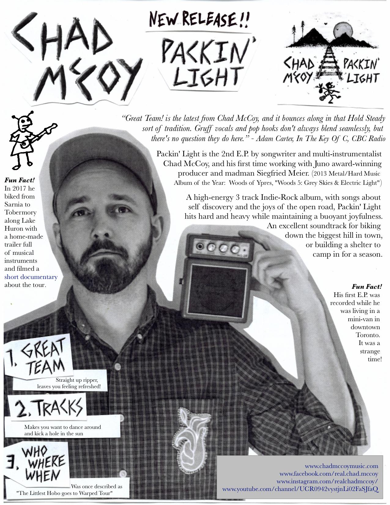 Packin' Light EP Release One-sheet