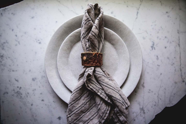 live edge birch napkin ring