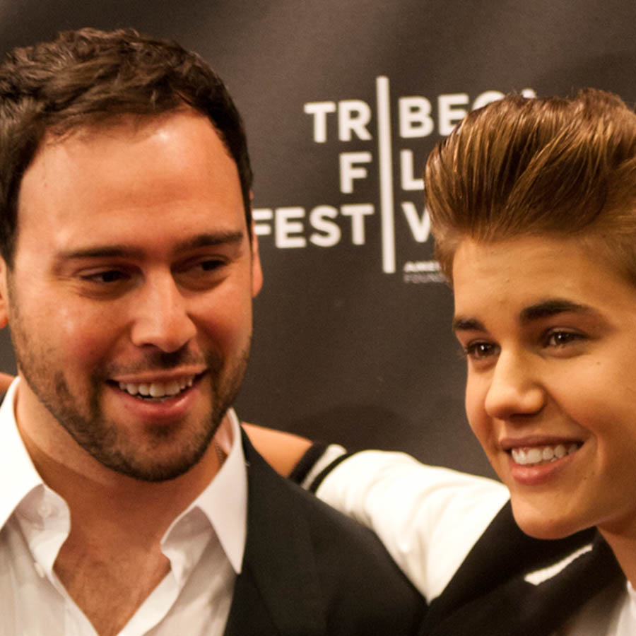 JUSTIN BIEBER & SCOOTER BRAUN - MUSIC AND MANAGEMENT DUO -