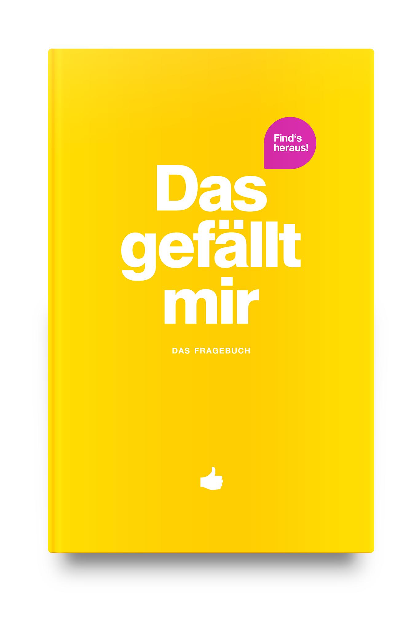 """Das Fragebuch   Das neue """"Das gefällt mir"""" Fragebuch – rund um alles, was dir gefällt. Jetzt in auch in Gelb!"""