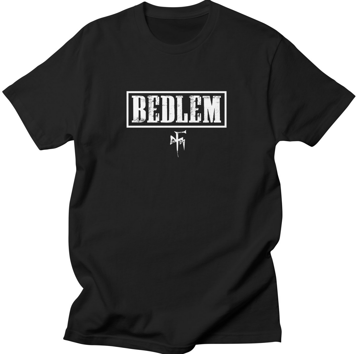 """Click here to order the """"WHITE BEDLEM LOGO"""" shirt and more"""