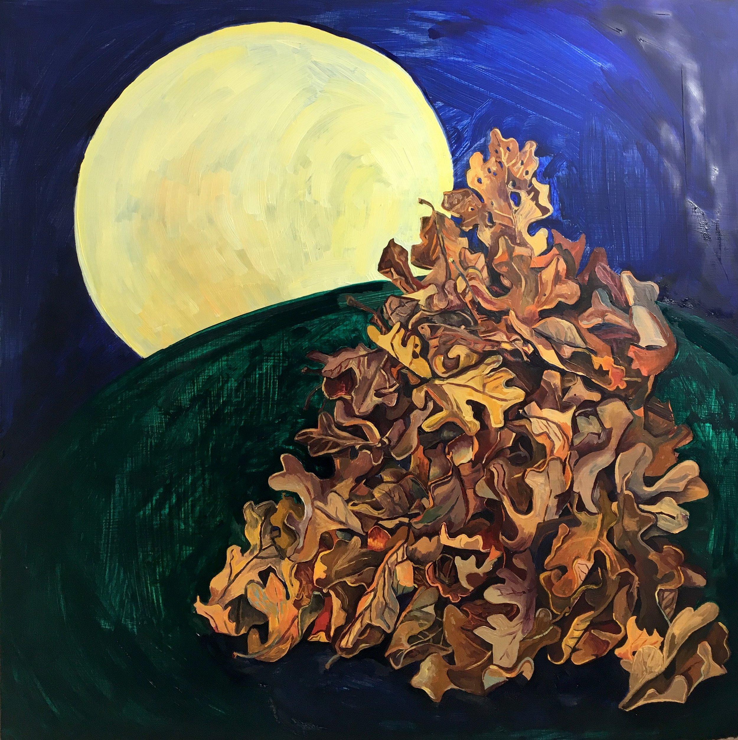 "Falling , 2016, Oil on Panel, 24 x 24"""