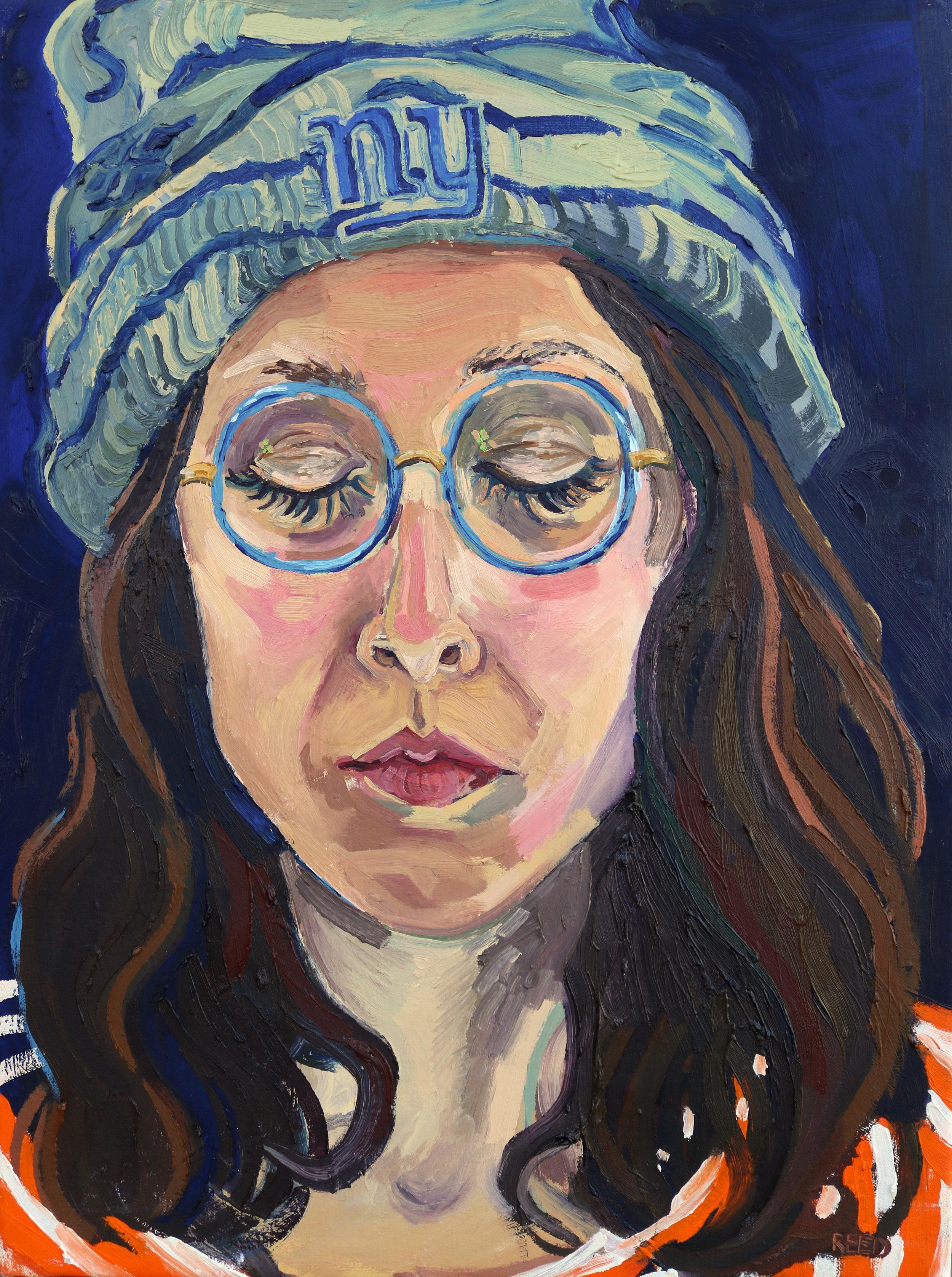 "Self Sleeper , 2016, Oil on canvas, 15 x 20"""