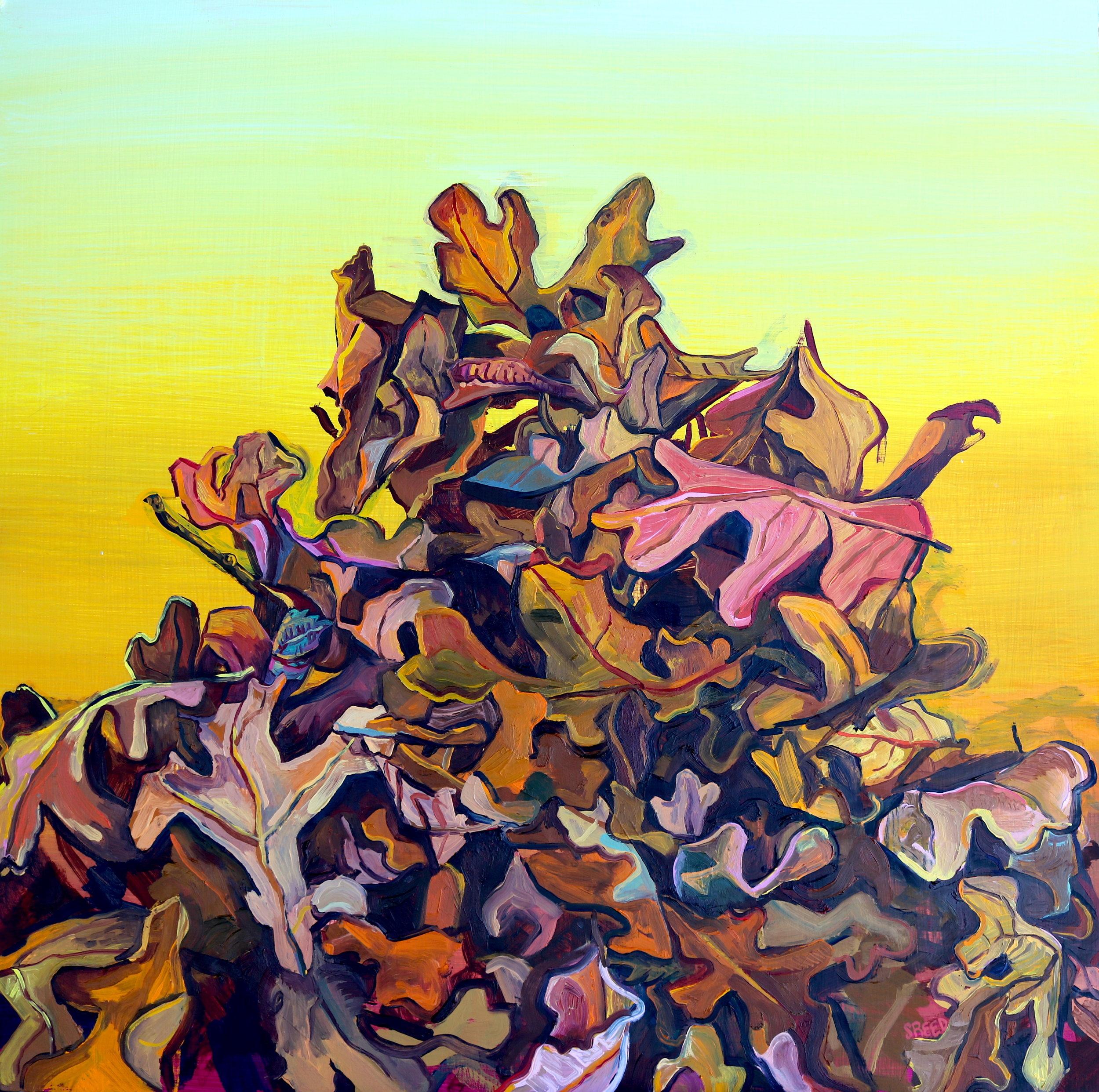 "Rising , 2016, Oil on Panel, 24 x 24"""