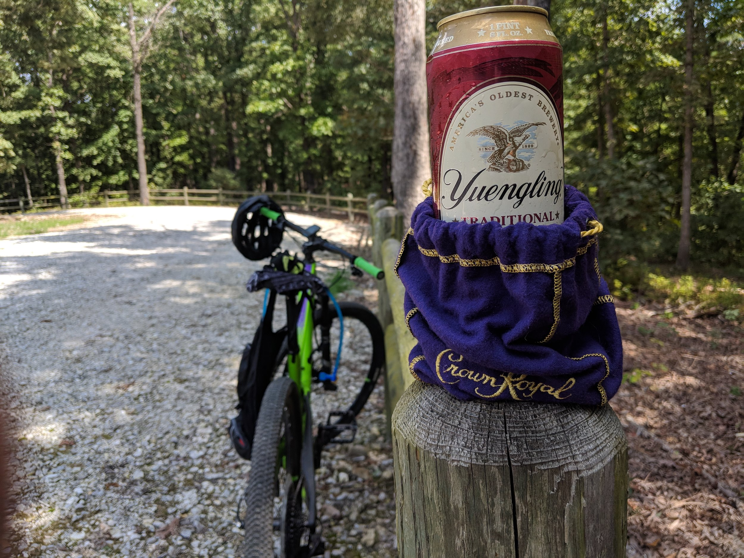 When you forget your coozies, you make do with what you have.