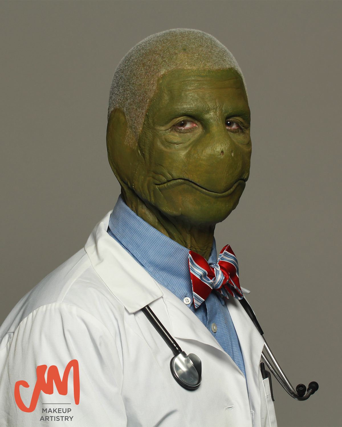 turtle humanoid doctor foam latex multi piece special effects makeup sfx