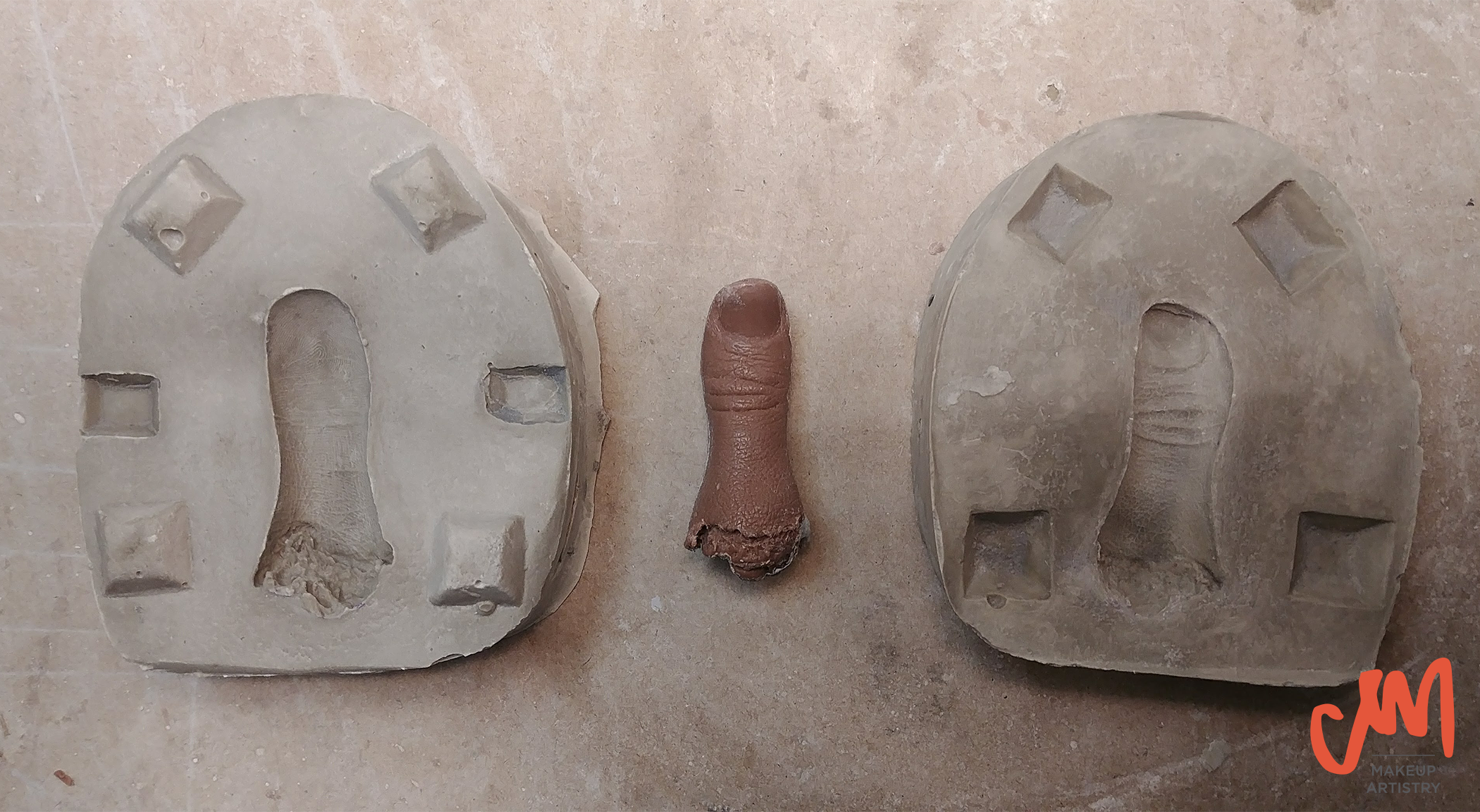 finger prop monster makers clay stone mold