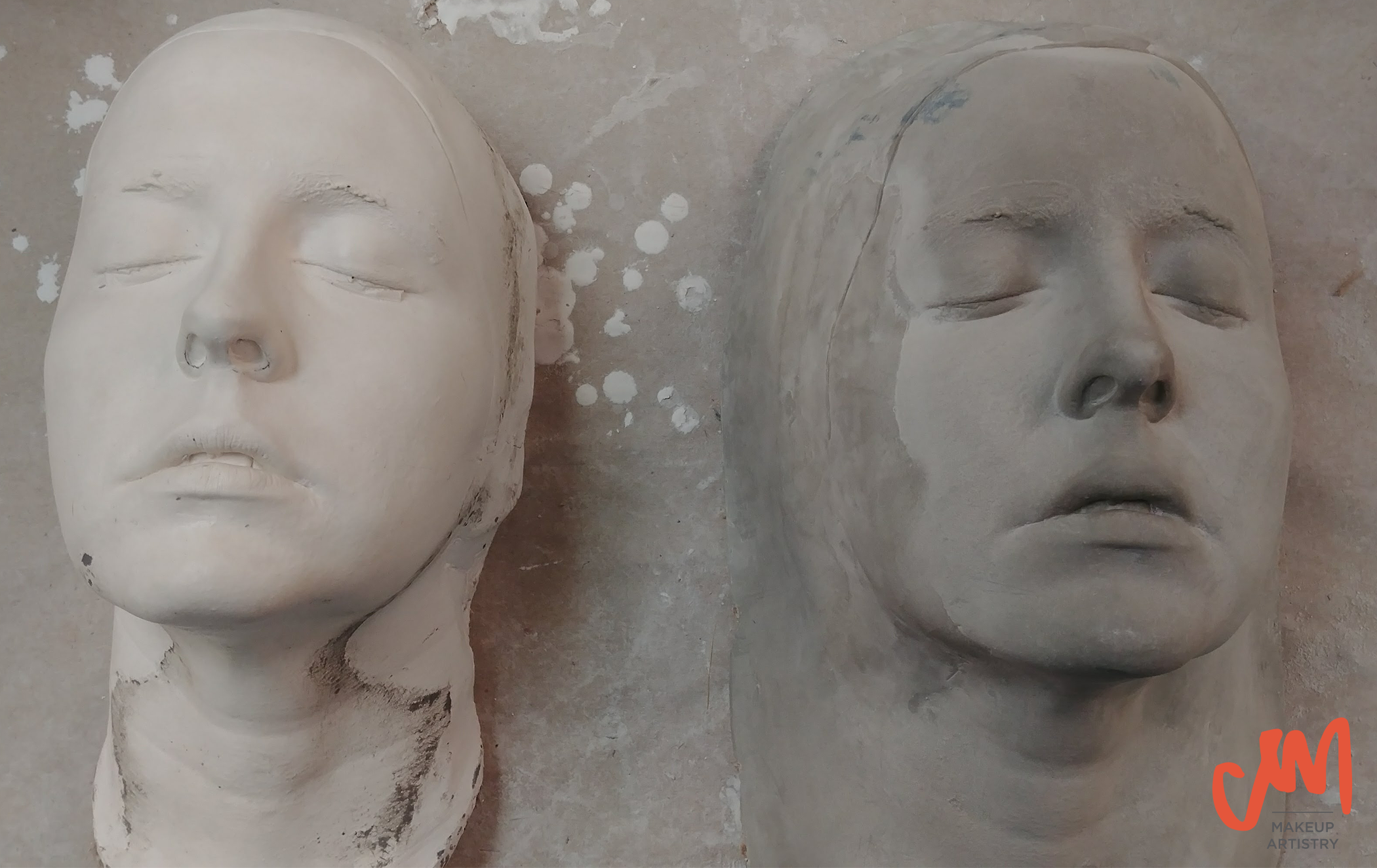 life cast corrected positive stone plaster special effects technical tech work
