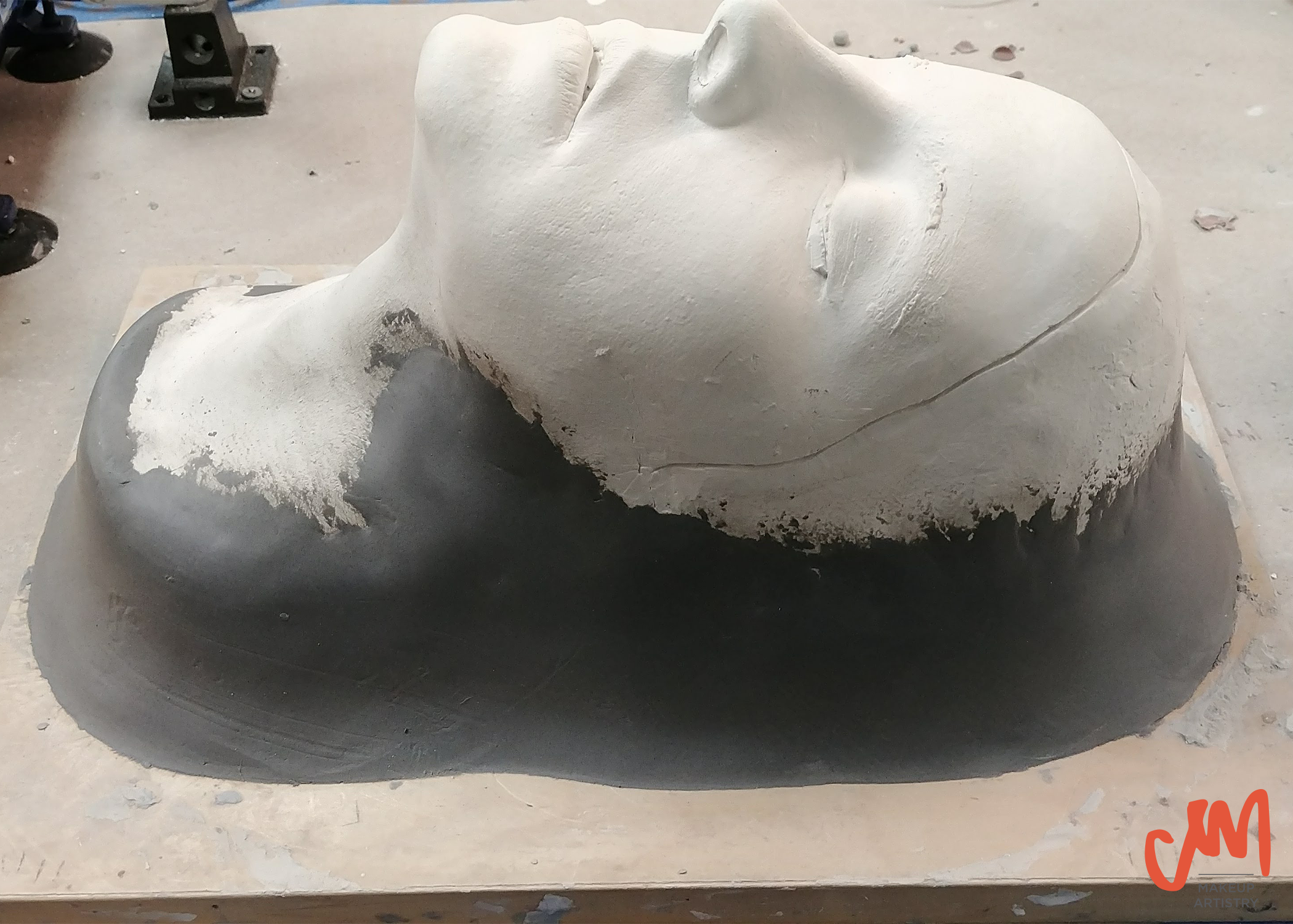 corrected positive stone plaster face life cast special effects makeup sfx technical tech work
