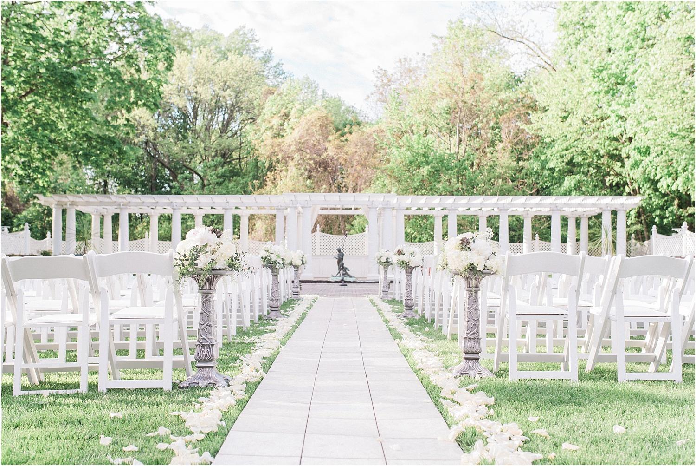 shadow brook nj wedding photographer ceremony aisle