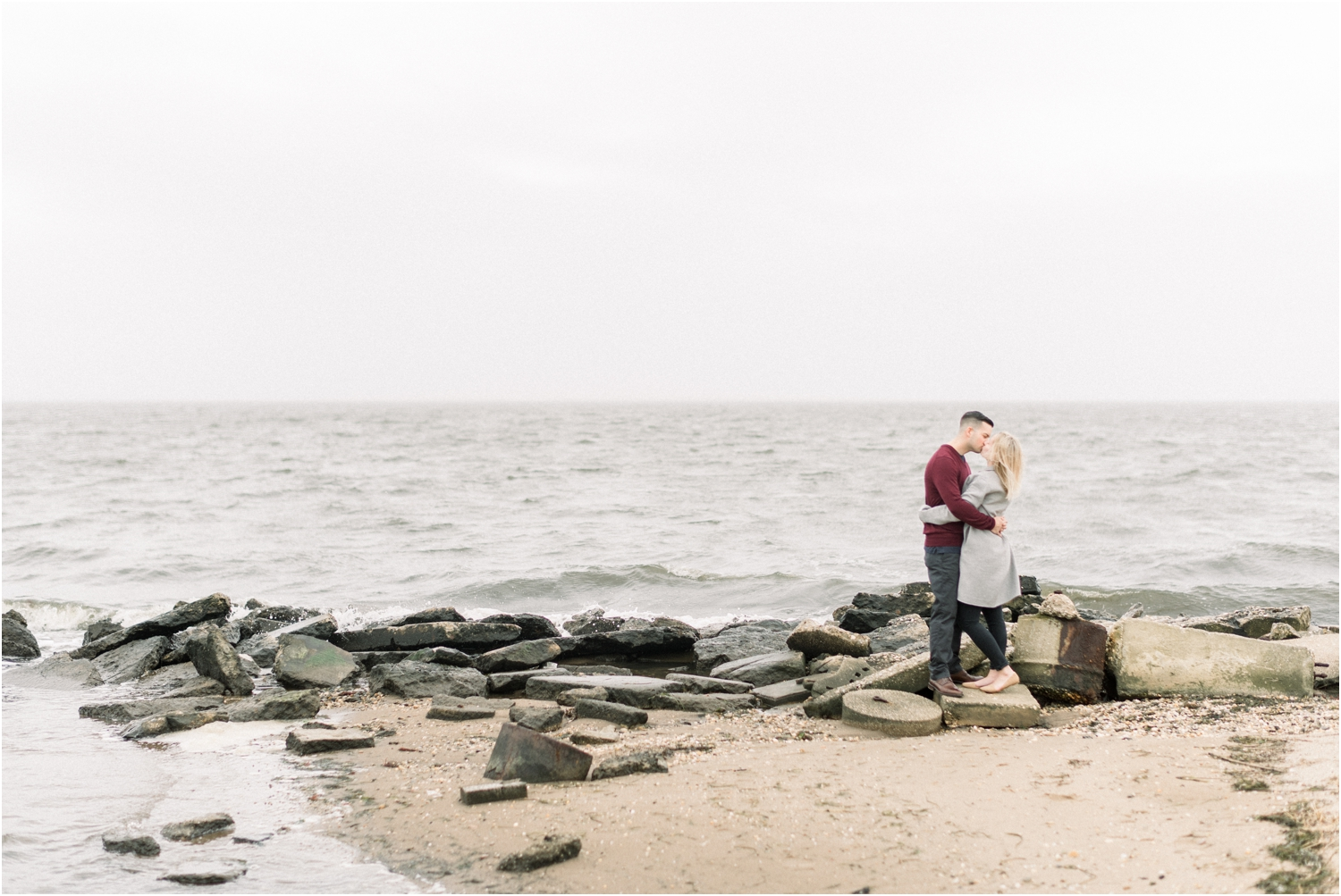 great river engagement session