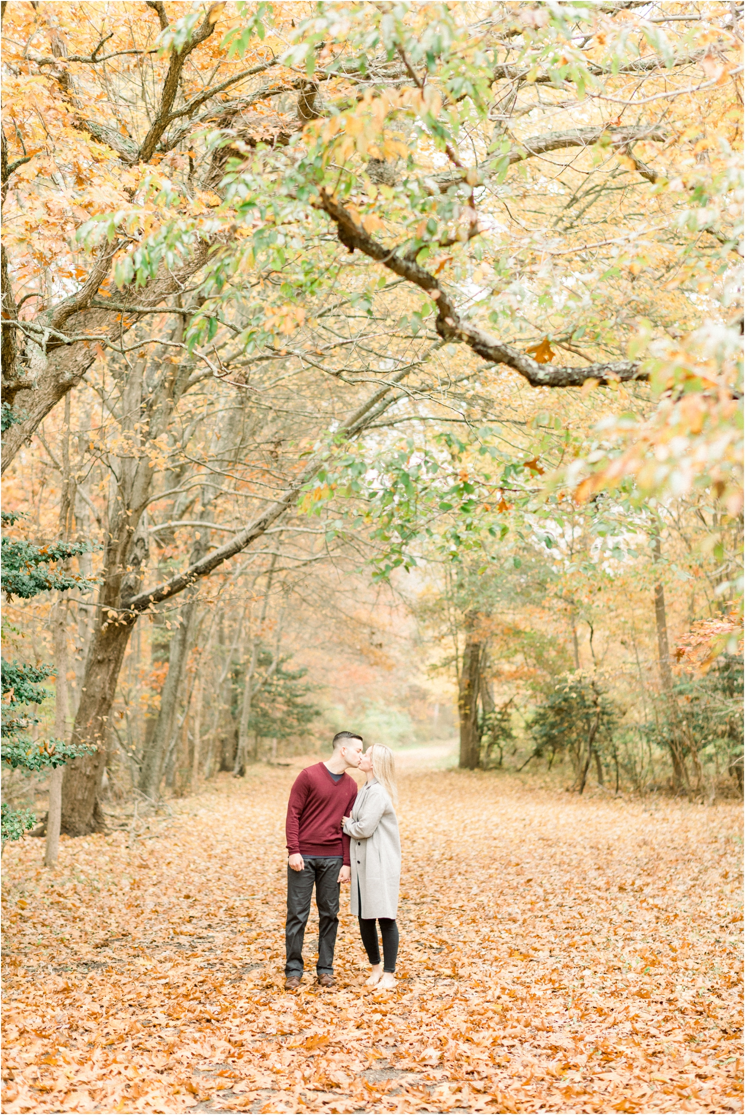 fall engagement session Long Island