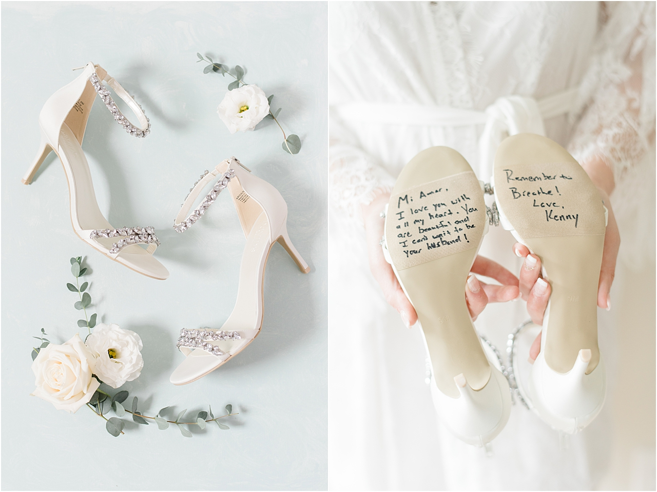 Bride's shoes with groom's message on bottom.jpg
