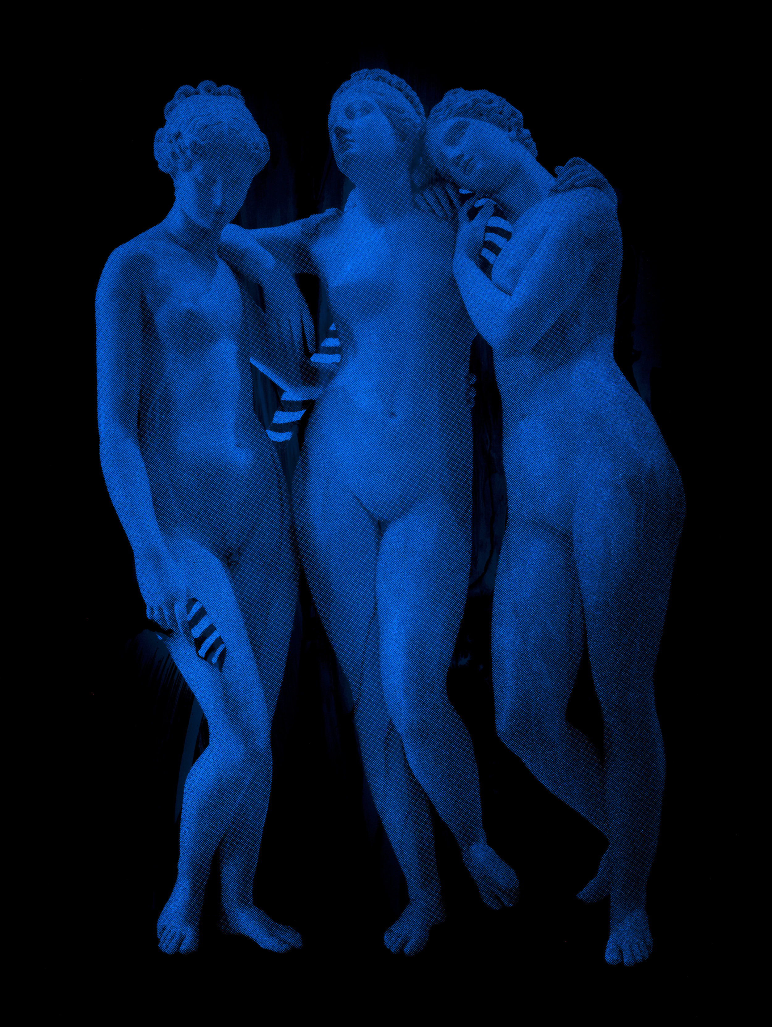 Polarité  Vision de nuit  100 X 75 cm - boite altuglas et bois