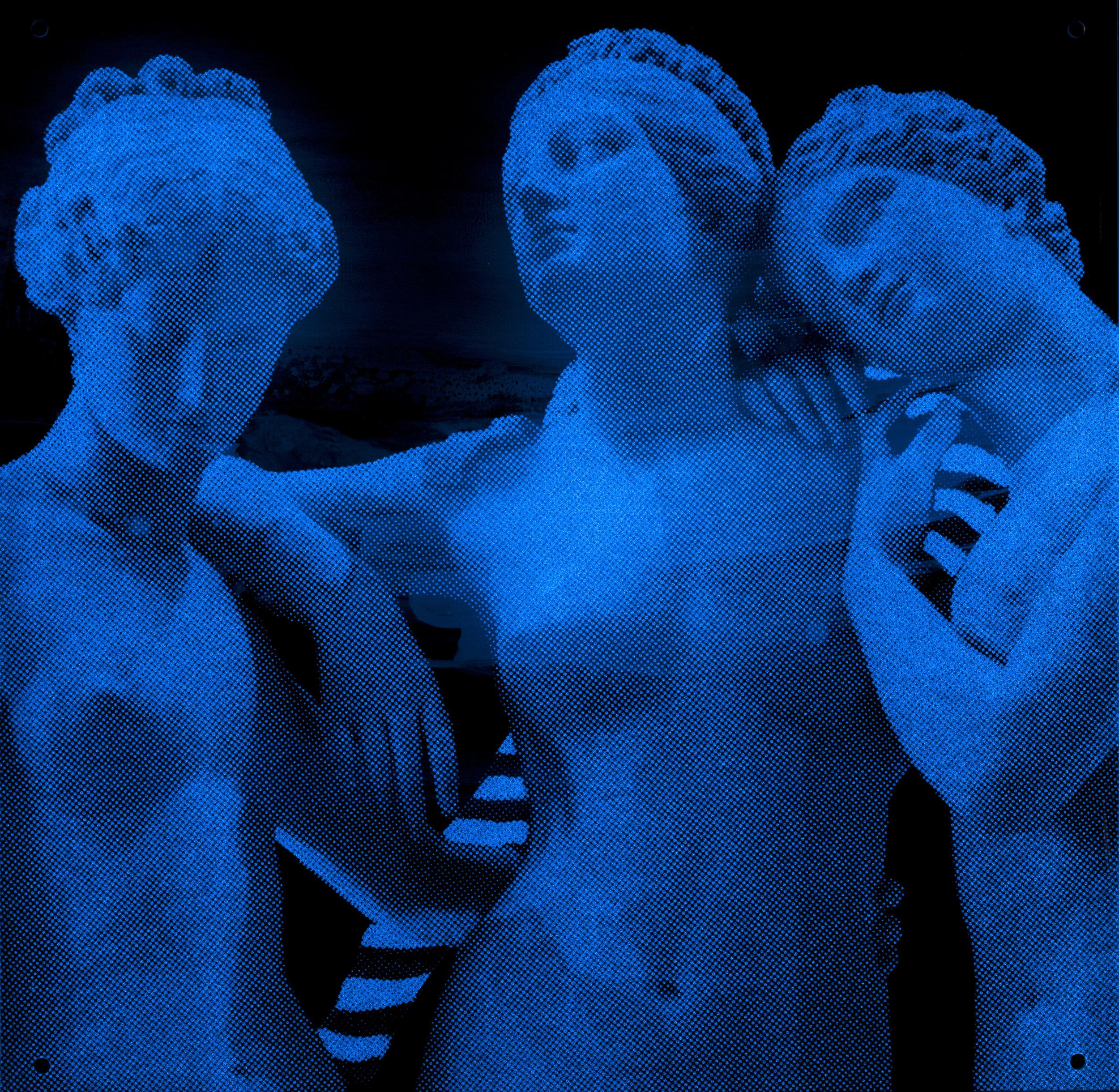 Paysage  Vision de nuit  40 X 40 cm - boite altuglas et bois