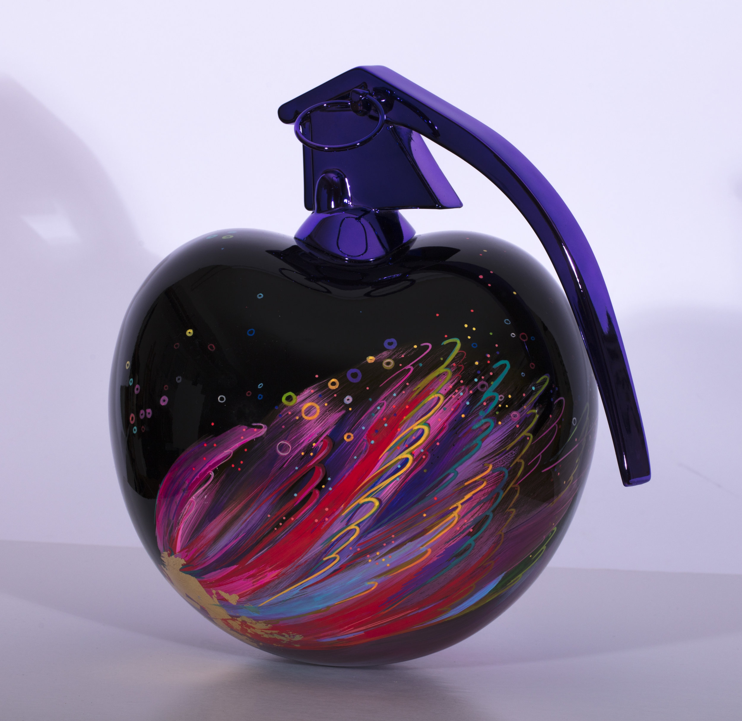 Color - Résine et chrome 30 x 30 cm