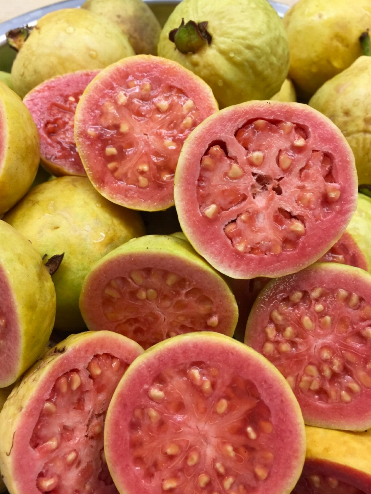 Local Mexican Guavas grown in the Silverlake neighborhood of Los Angeles.